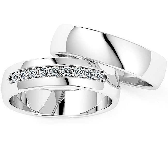 Klassiek 9 Diamanten Ringen Set Model 2