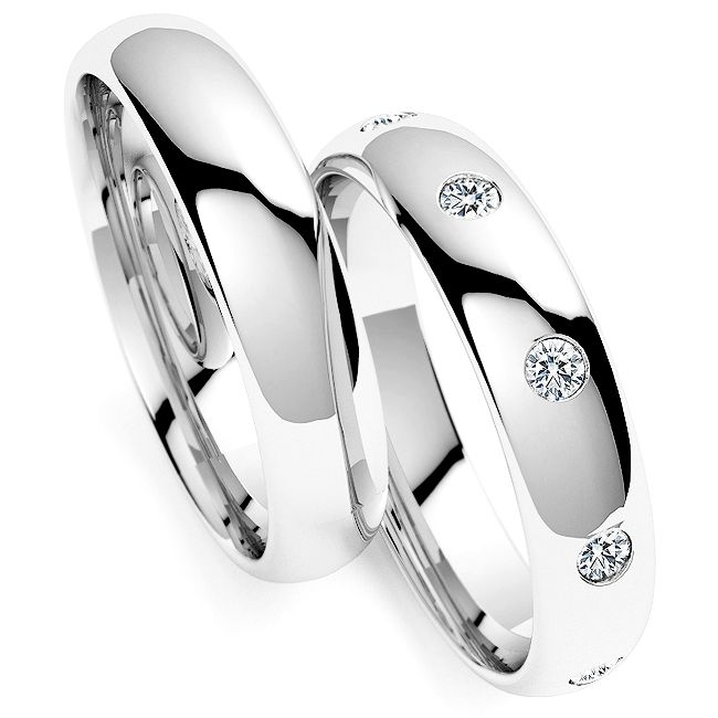 Klassiek 8 Diamanten Trouwring Set