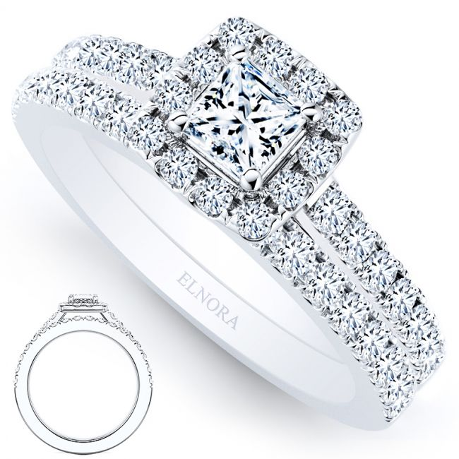 Halo Geneve Ring Set - Princess