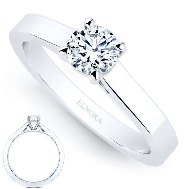 Solitaire Signature - Elegance- Briljant - Ring 0.30ctw