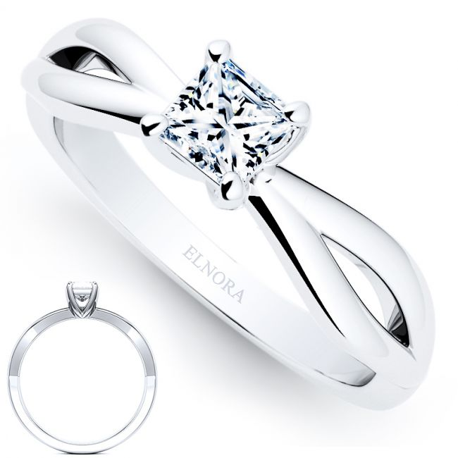Infinity Signature -Serenity - Princess Ring 0.30ctw