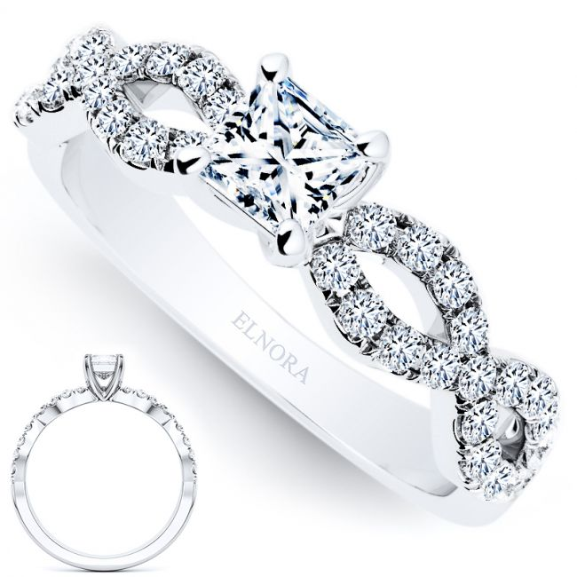 Infinity Signature Princess 0.64ctw - Infinity Ring