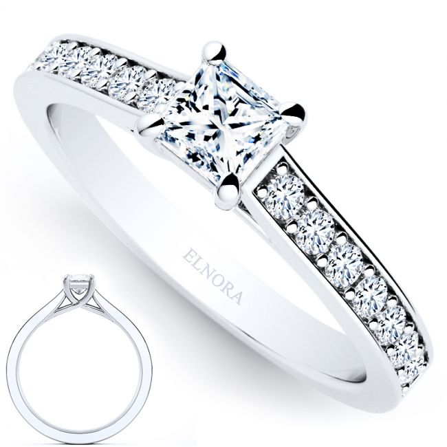 Allure Signature Ring - Elegance - Princess 0.58ctw