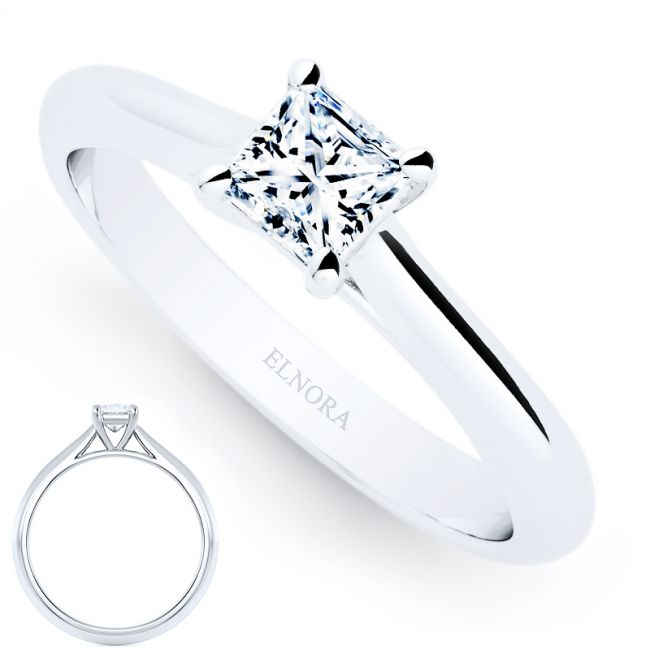 Solitaire Signature - L'amour- Princess - Ring 0.30ctw